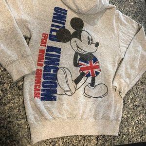 Disney Epcot UK Vintage Mickey Sweatshirt SIZE S